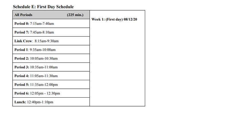 1st Day Schedule Featured Photo