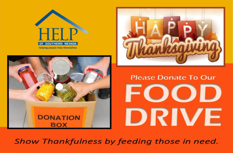 photo ad for food drive