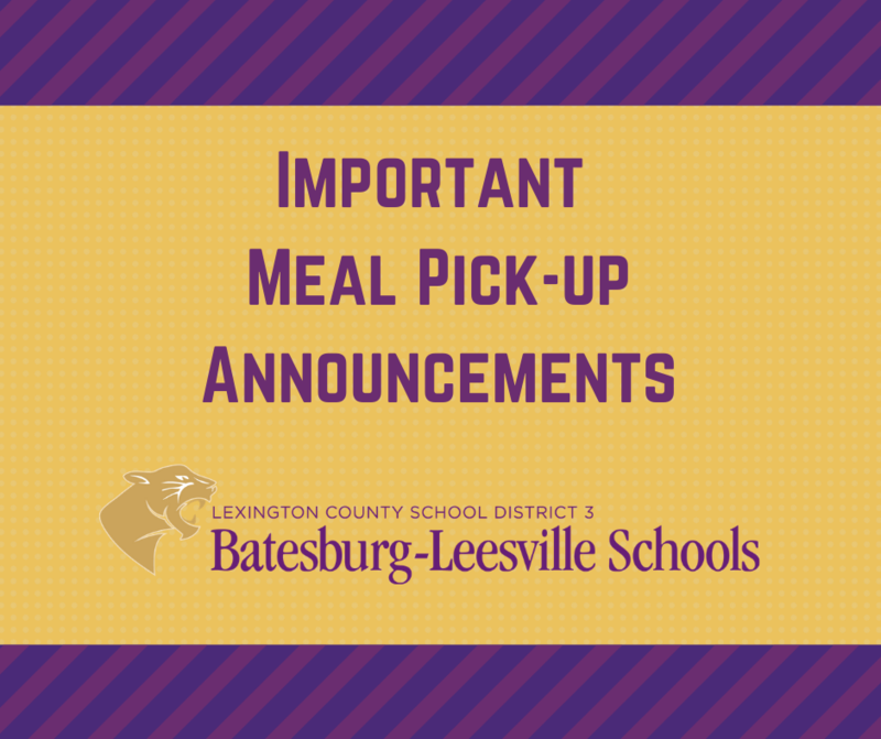 Important Meal Pick-Up Announcements