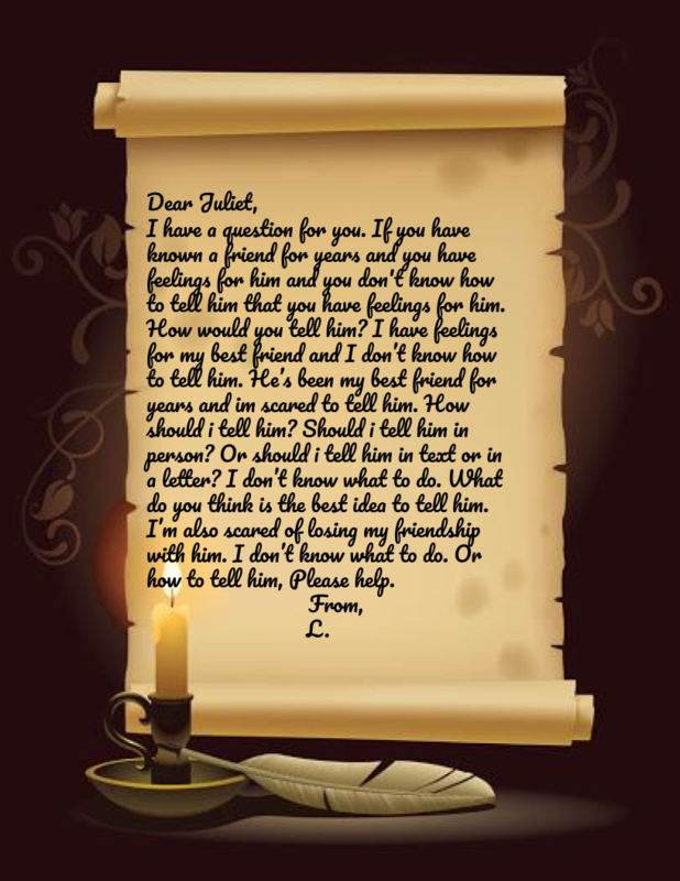 Letter to Juliet from L.