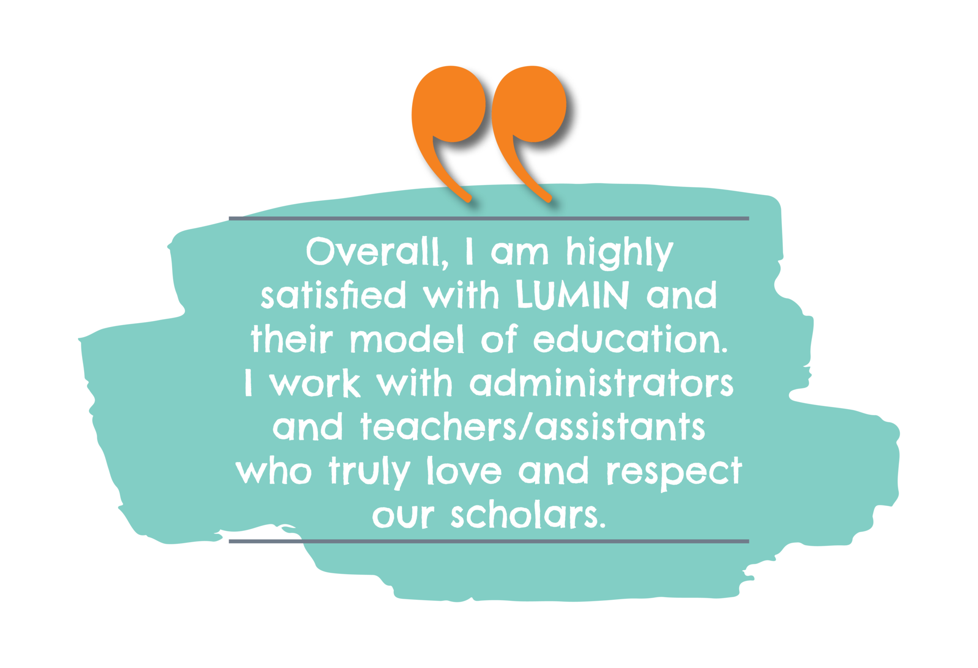 Overall, I am highly satisfied with LUMIN and their model of education. I work with administrators and teachers/assistants who truly love and respect our scholars.
