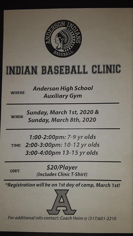 AHS Baseball Camp Information