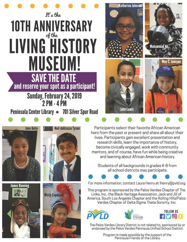 Living History Museum flyer