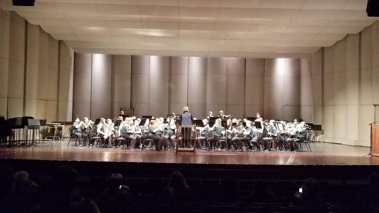 JH Band at March 2018 Band Festival