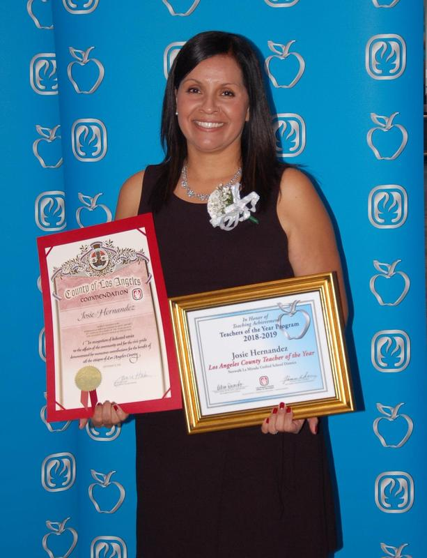 Josie Hernandez of Moffitt ES Selected as a 2018 L.A. County Teacher of the Year Featured Photo