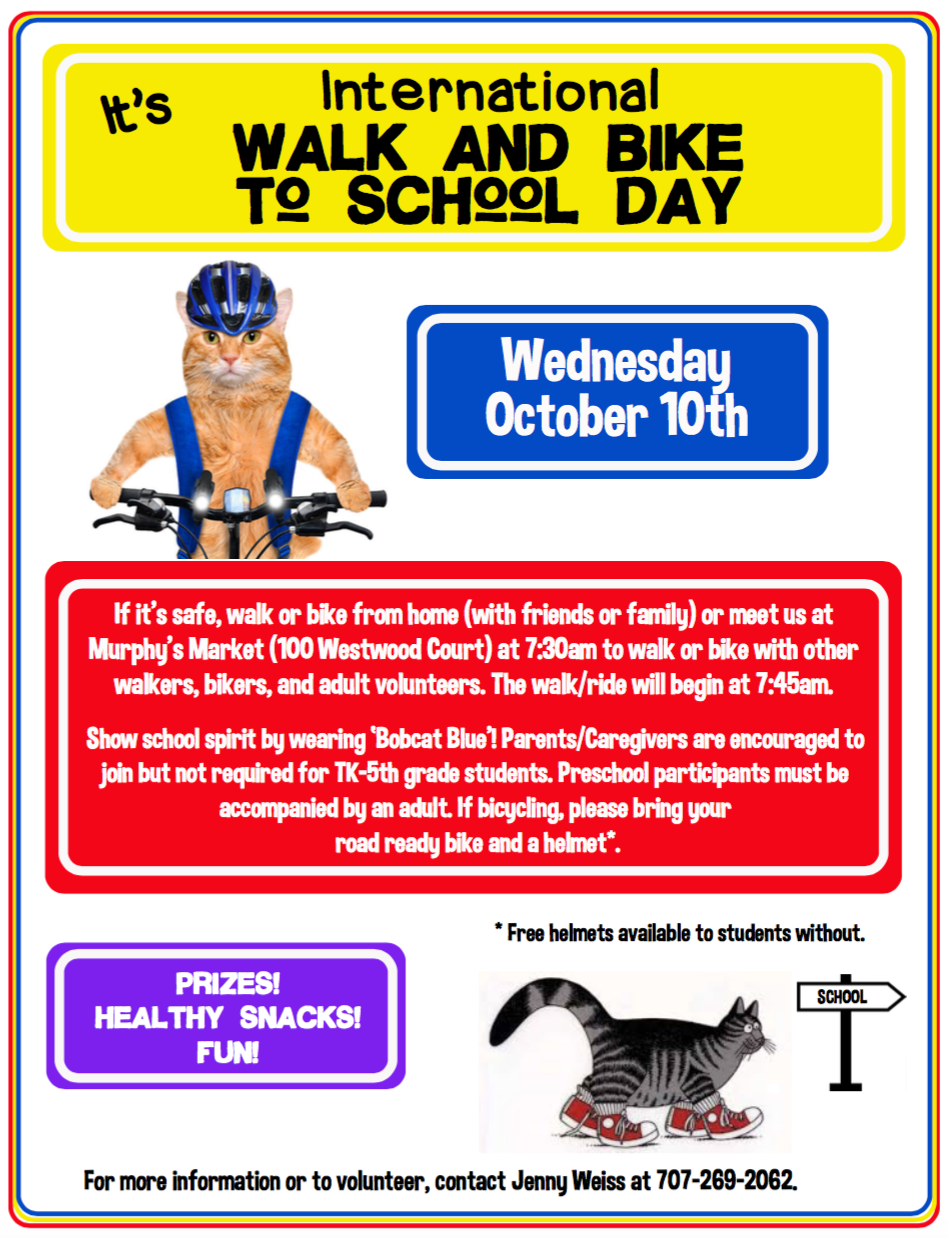 Flyer to Bike and Walk to School Day