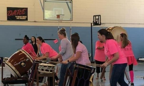 teachers playing drums