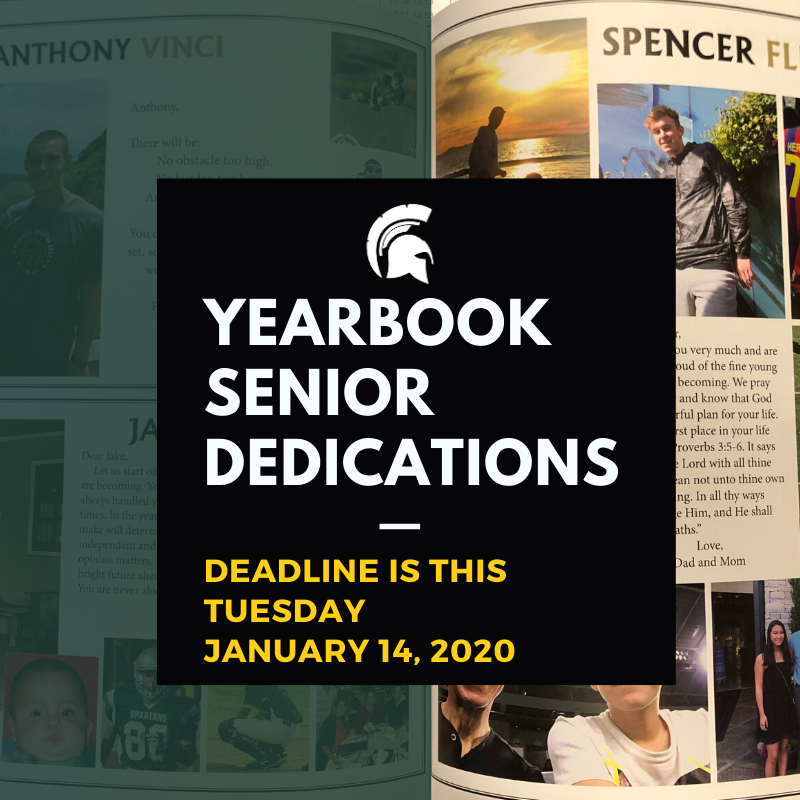 Senior Parents...Senior Dedication page discount ends January 14th! Featured Photo