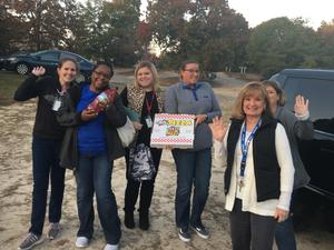 A team from Wood Elementary on Math Prize Patrol
