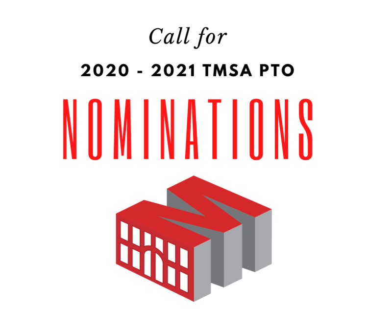Nominations Open for 2020 - 2021 TMSA PTO (Parent Teacher Organization) Officers Featured Photo