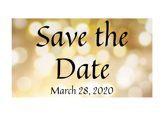 Save the Date: March 28, 2020