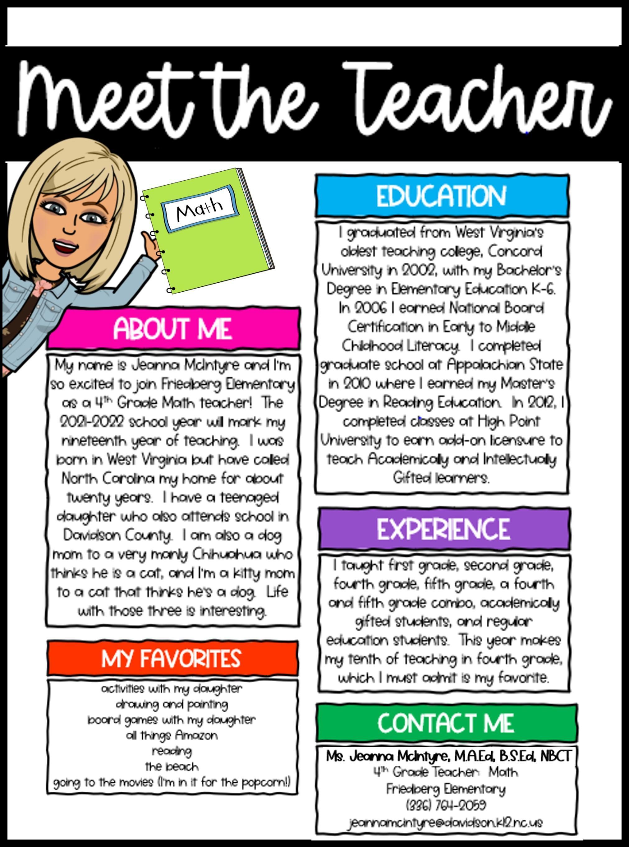 Meet Ms. McIntyre