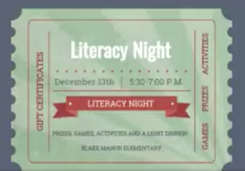 BME Literacy Night is on December 13, 5:30-7pm Thumbnail Image
