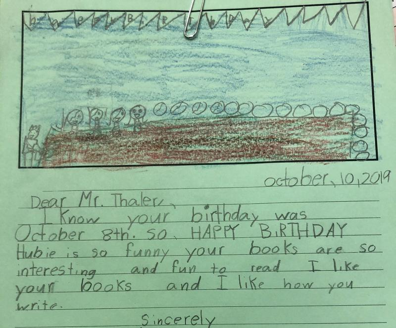 Ms. Barajas class letter to author