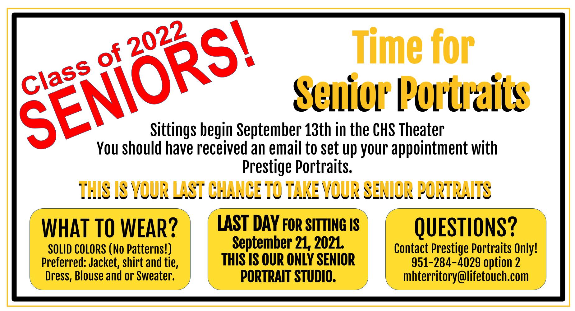 Senior Pics Last chance to take them