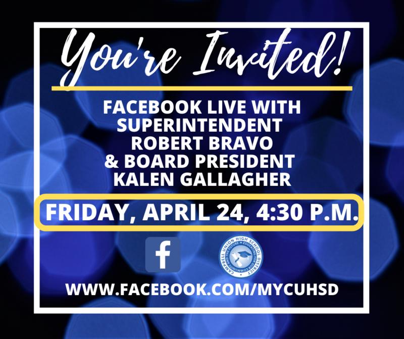 graphic for facebook live invitation