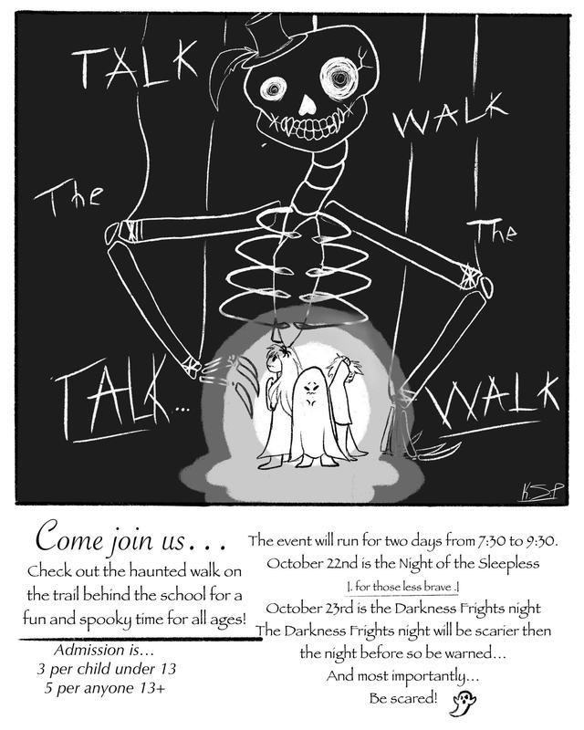 Haunted Walk Flyer
