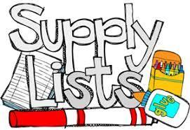 School Supply Lists for 2018-19 Thumbnail Image