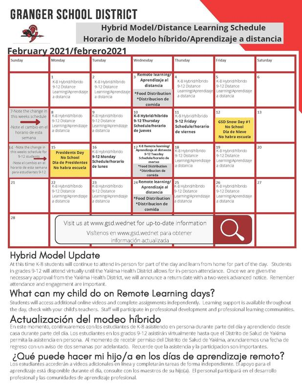 Learning Schedule for February