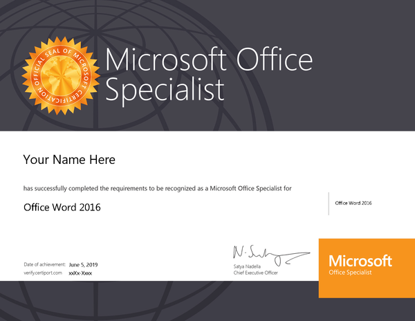 Word 2016 MOS Certification Sample.png