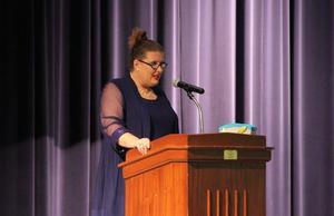 Dr. Tammy Lupardus addresses Charleston R-I Staff