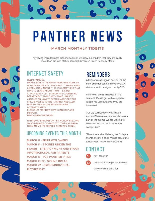 March Principal Newsletter Thumbnail Image