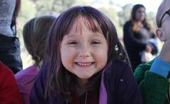 Student smiling for the camera.