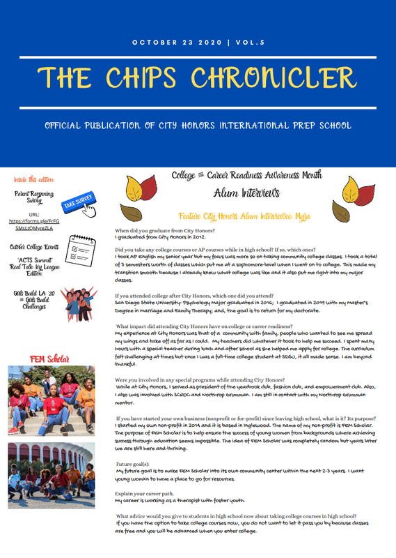 chips chronicler, vol 5, pg 1