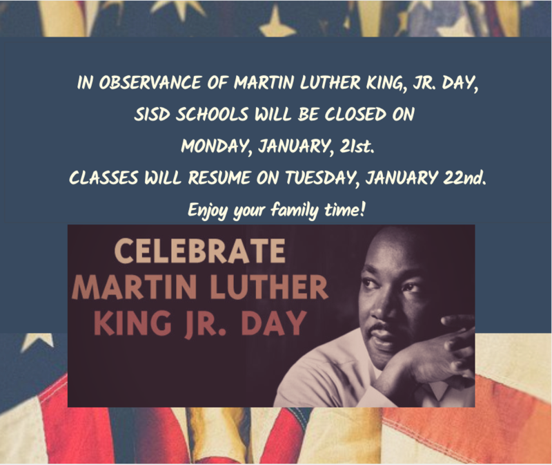 SISD Campuses Closed In Observance Of Martin Luther King, Jr. Day Featured Photo