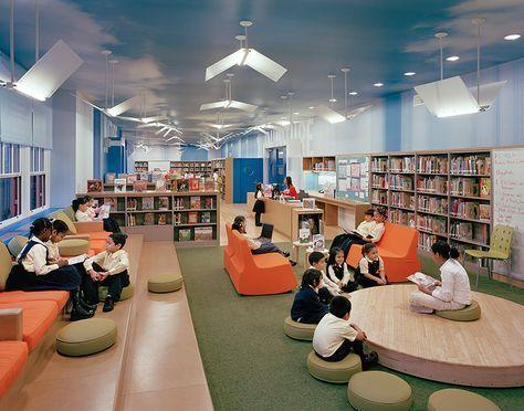 students in the ps 192 library