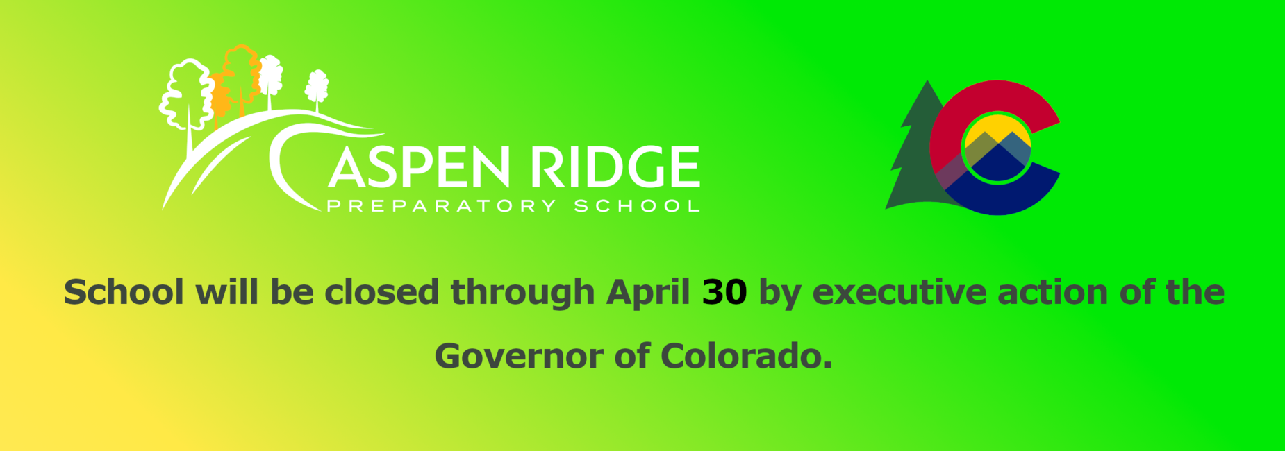 Banner - School Closed Through April 30
