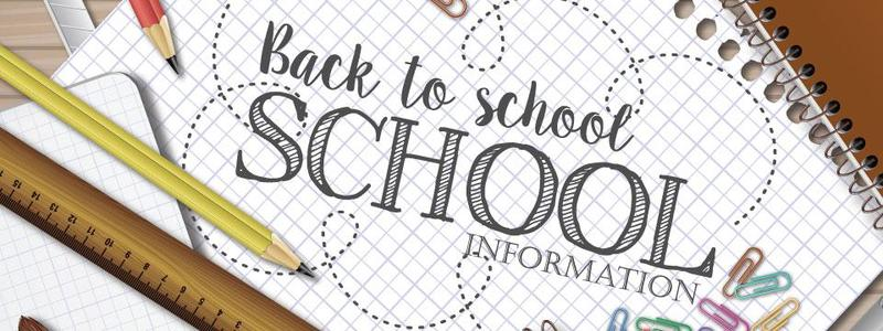 2019-2020 Back to School Information Thumbnail Image