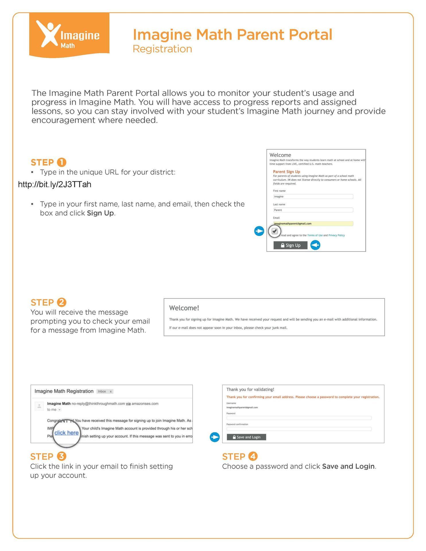 Imagine Math-Parent Portal – Parents – Mission Consolidated