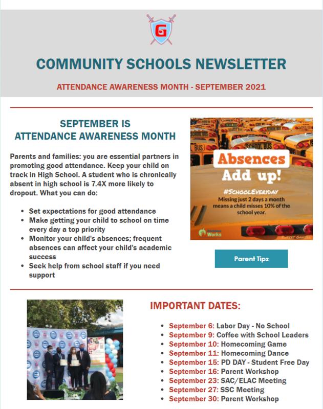 Community School September Newsletter