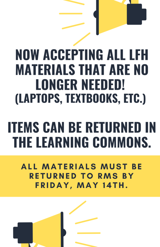 LFH Materials are due back on May 14th Featured Photo