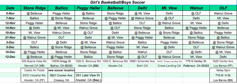Girls Volleyball & Boys Soccer