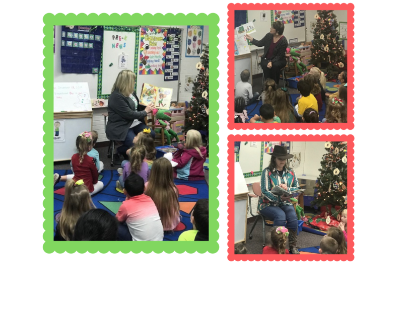 Christmas Guest Readers visit Pre-K classes Featured Photo