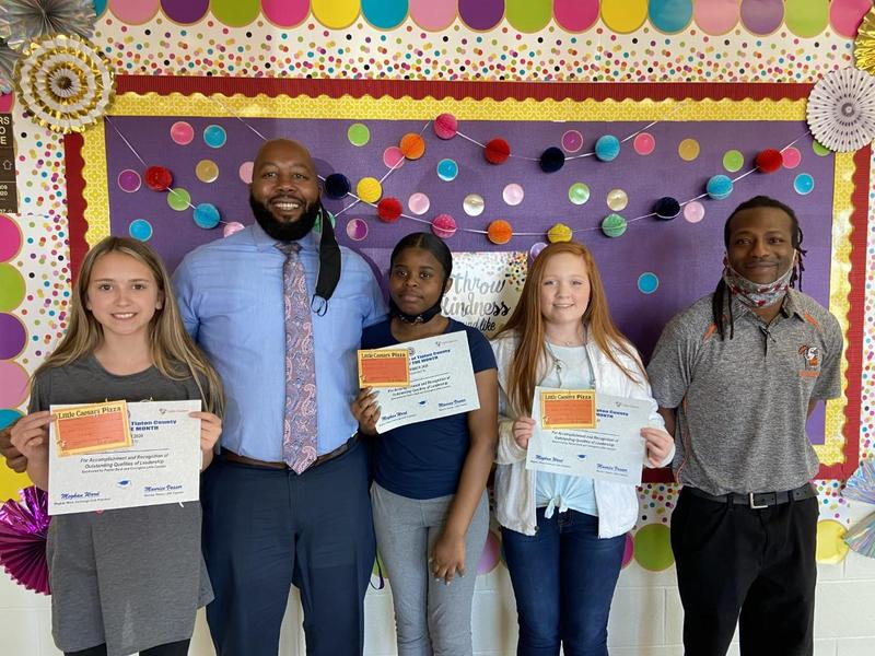 Congratulations to our CMS Students of the Month! 6th Grade - Ava McCalla Dr. Christopher L. Morris 7th Grade- Baylea Walton  8th Grade - Alayla McCoy