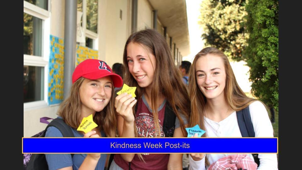 Kindness Week Post-It's