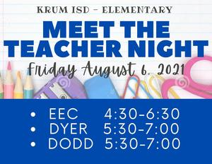graphic shows meet the teacher dates and times