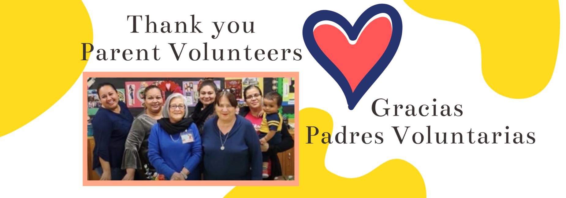 Thank you parent volunteers