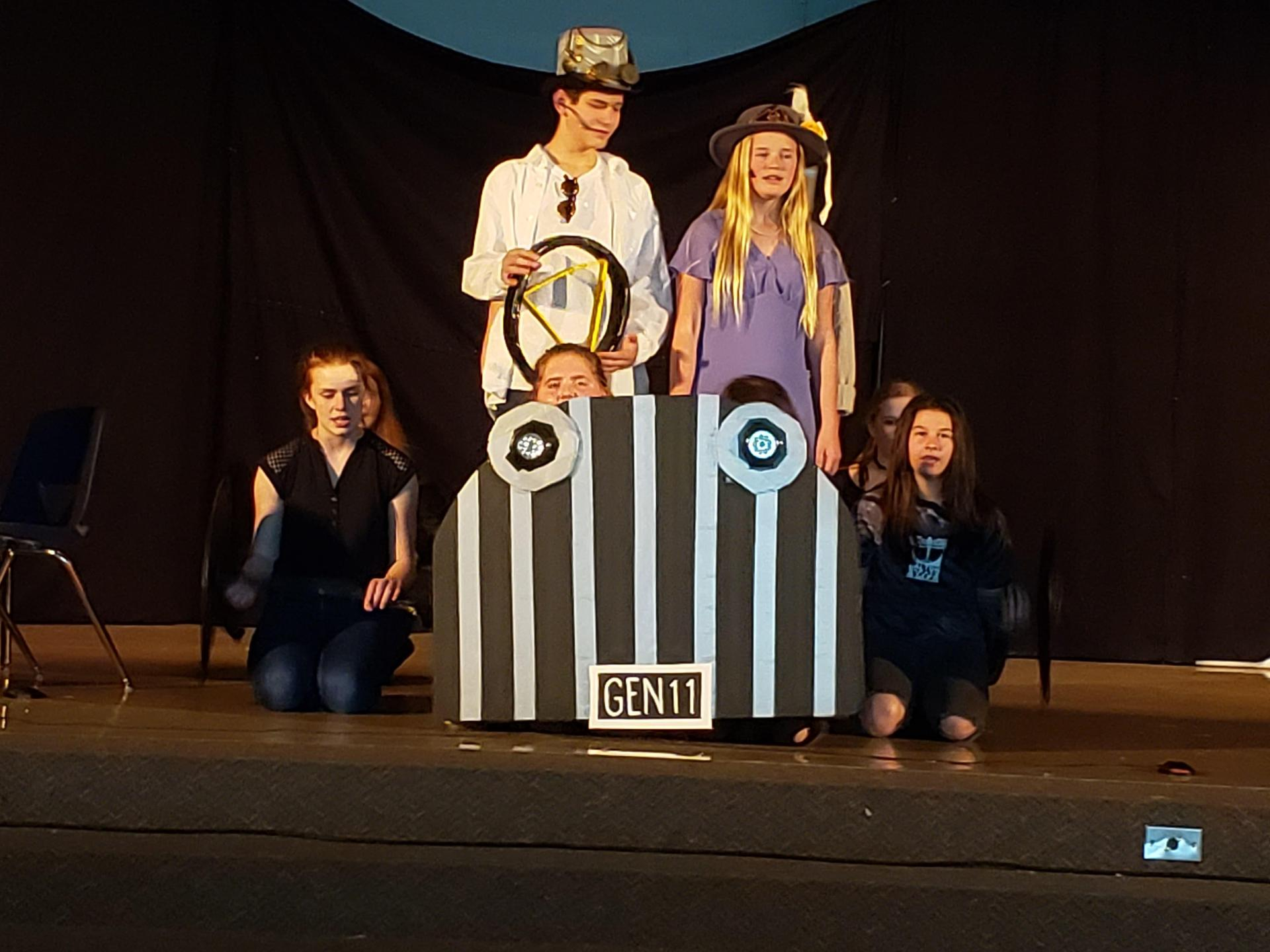Cast of Chitty Chitty Bang Bang Jr. in Scene