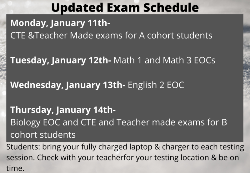 Updated Exam Schedule Thumbnail Image
