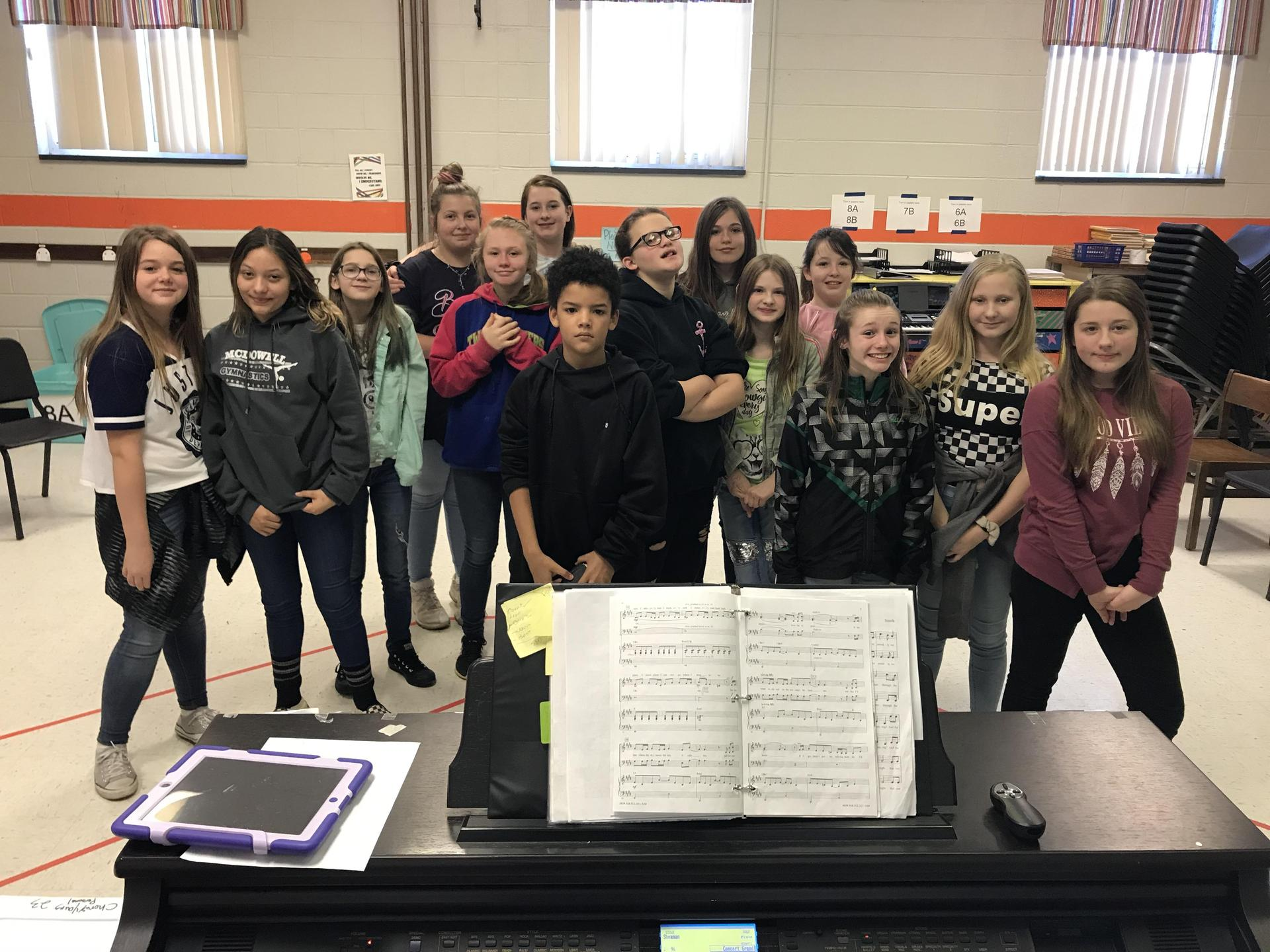 Picture of the EMMS 6th Grade Chorus Spring 2020