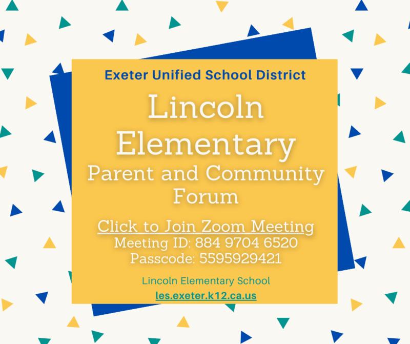 lincoln elementary school parent community forum flyer