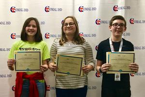 Danville Middle School top three GeoBee winners