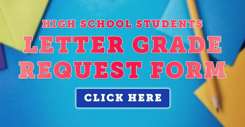 Letter Grade Request Form