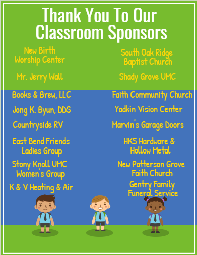 Thank You to our Class Sponsors Thumbnail Image