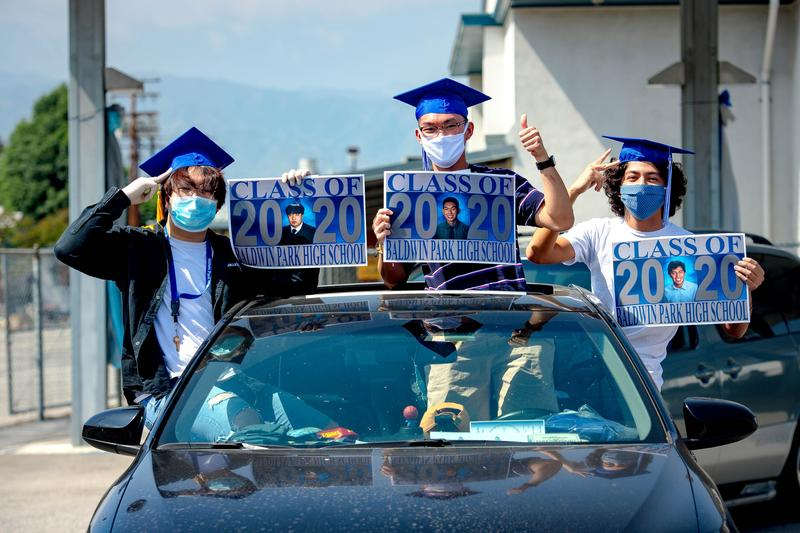 Baldwin Park High School celebrated graduates prior to the drive-thru and virtual commencement ceremonies with a Senior Sunset on May 29.