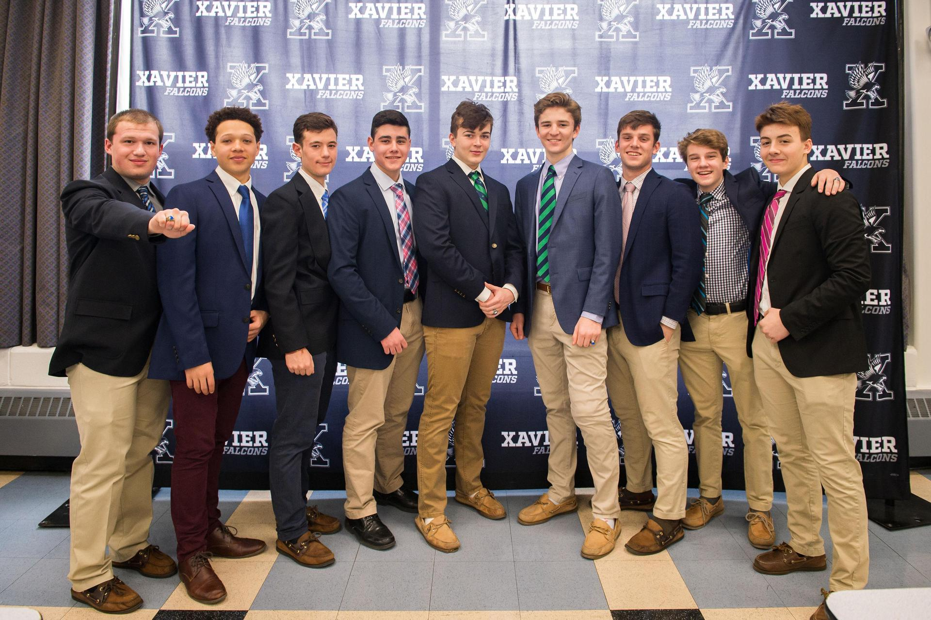 Xavier Students at Annual Ring Mass